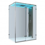 AWT Stoomdouche LD111F15 Stone Edition zilver 150x90 cm.