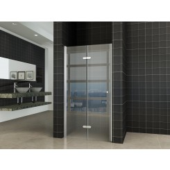 Wiesbaden vouwbare nisdeur 900x2020 mm. links 8 mm. NANO glas