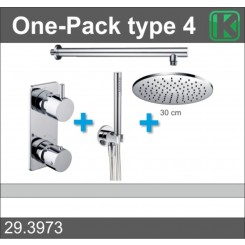 One-Pack inbouwthermostaatset rond type 4 (30cm)