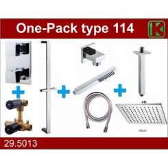 One-Pack inbouwthermostaatset type 114 (30cm)