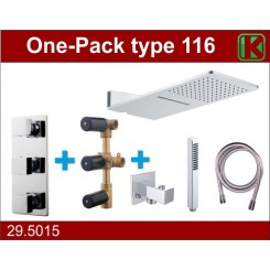 One-Pack inbouwthermostaatset type 116 (24x55)