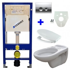 Geberit UP 100 + Neptunus WC + Ultimo zitting + Delta 21 glans chroom