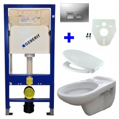Geberit UP 100 + Neptunus WC +Ultimo zitt + Delta 50 matchr