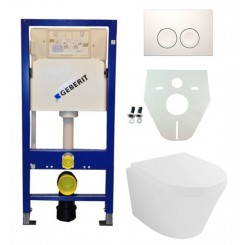 Geberit UP 100 Vesta wc+zitting + Delta 21 wit