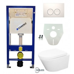Geberit UP 100 Vesta Rimless wc+zitting + Delta 21 wit