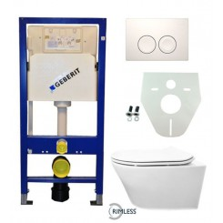 Geberit UP 100 Vesta Rimless wc+ Flatline zitt.+ Delta 21 wit