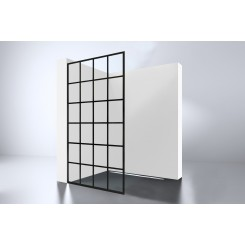 Inloopdouche Walk-In Black 1000 Screen 1000x2000x10mm