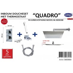 One pack Inbouw doucheset Quadro 200x200