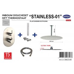 ADW RVS-304 Inbouwdouche thermostaat set Stainless-01 plafondbevestiging
